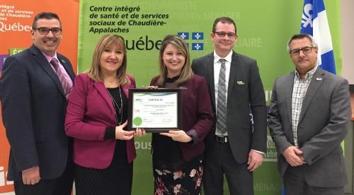 Lorganisme reçoit la certification « entreprise en santé Élite